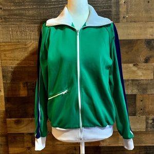 Vintage 70s Winning Ways Green Zip Up Track Jacket